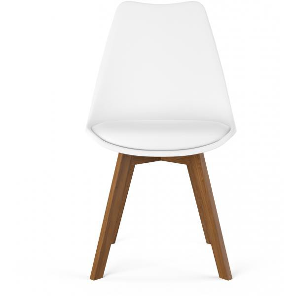 chaise design style scandinave blanche hades