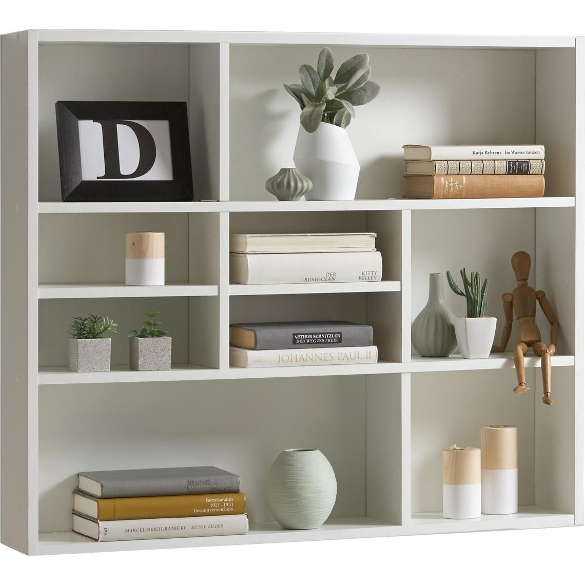 etagere murale 9 cases blanche daily