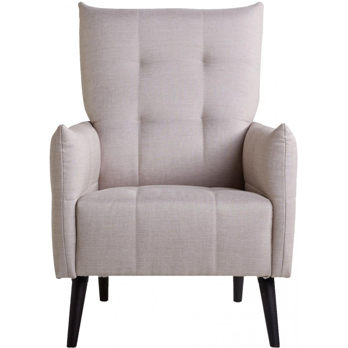 fauteuil capitonne a accoudoirs cappa
