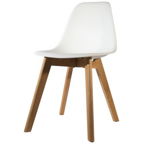 chaise scandinave coque blanche orkney 3s x home