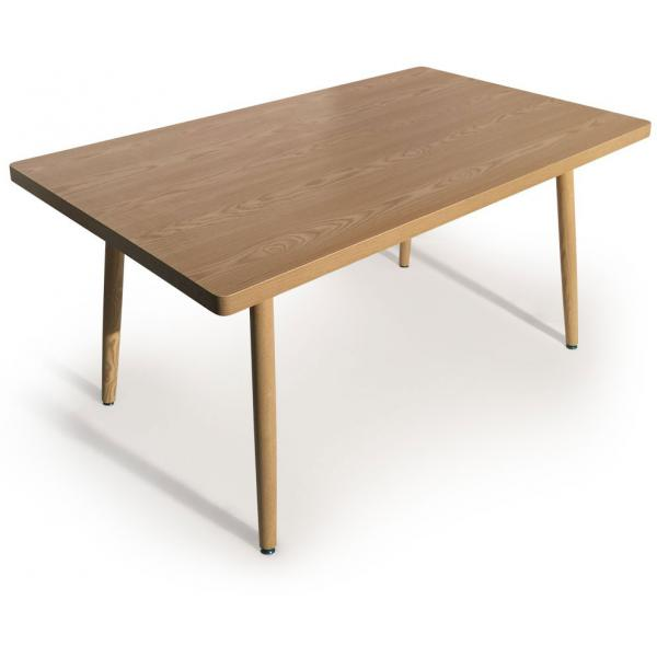 table rectangulaire style scandinave frene blondie