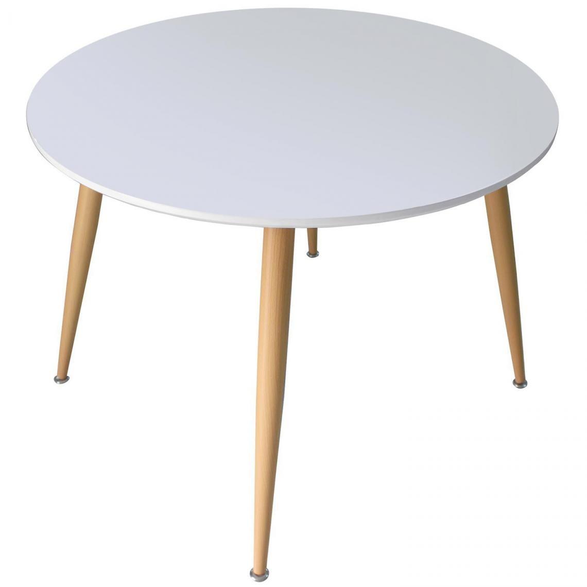 table scandinave 110cm de diametre bois