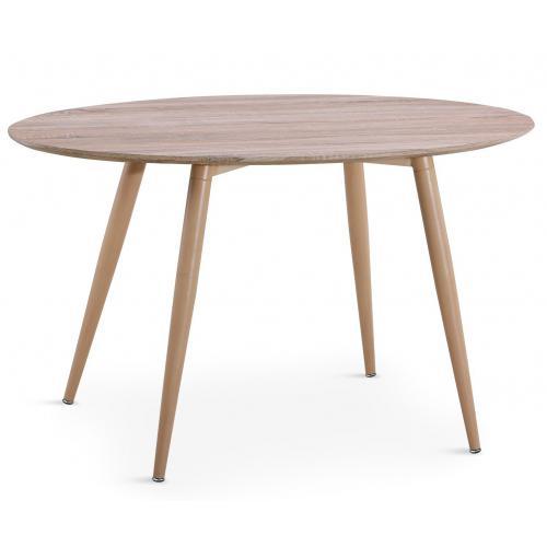 table ovale scandinave effet chene wael 3s x home