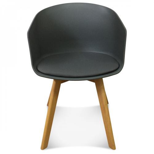fauteuil scandinave gris fonce danish
