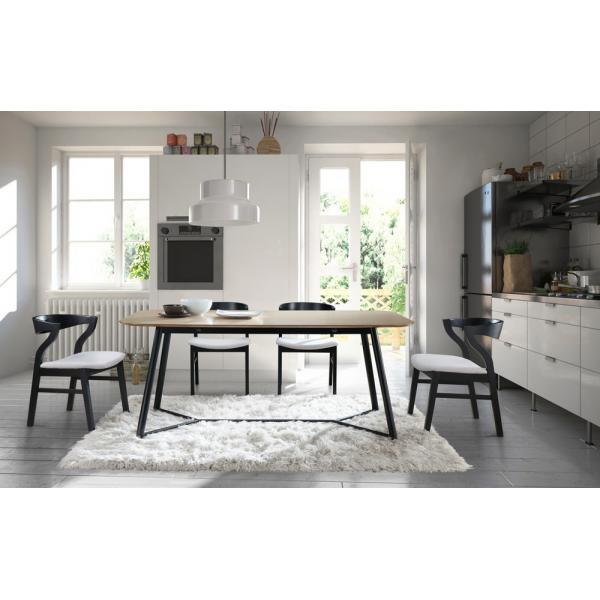 table a manger bois noir 180cm hourn