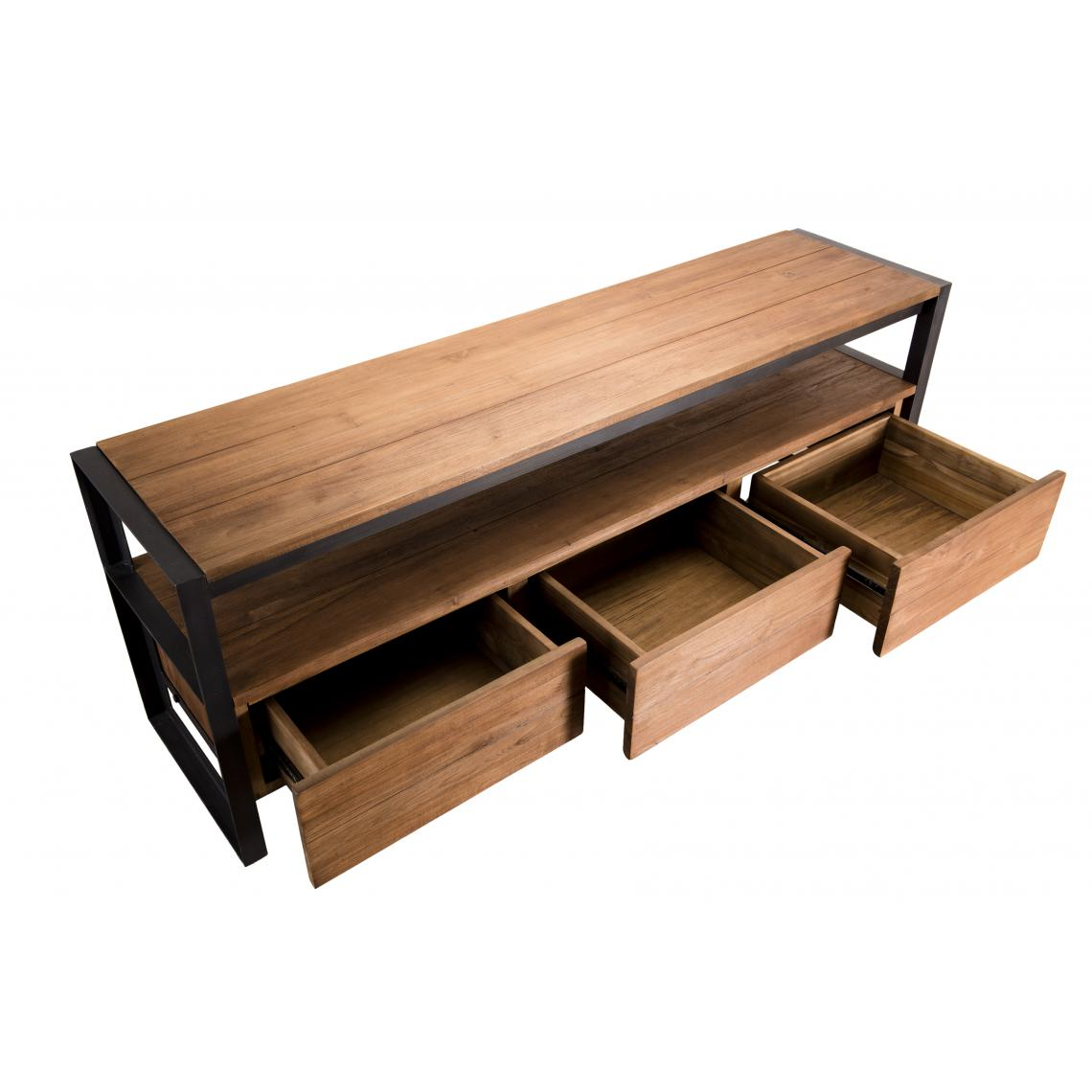 meuble tv sixtine 3 tiroirs et 1