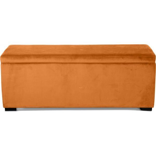 banquette coffre velours orange rimski