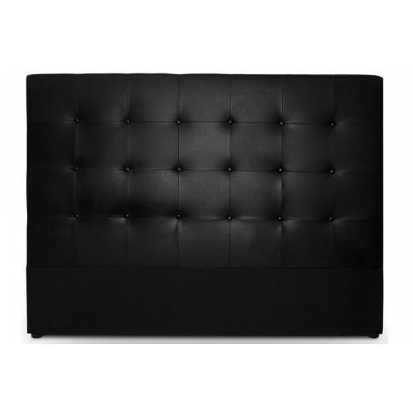 tete de lit capitonnee 180 cm cocoon noir 180x120x9