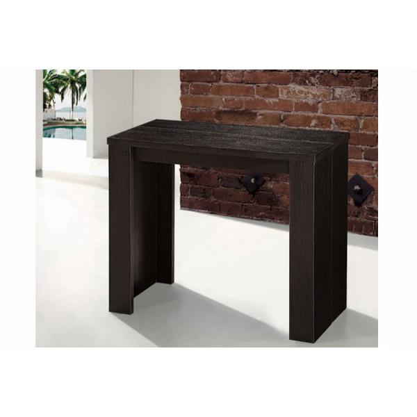 console extensible bois wenge 190cm mat harington 90x40x75