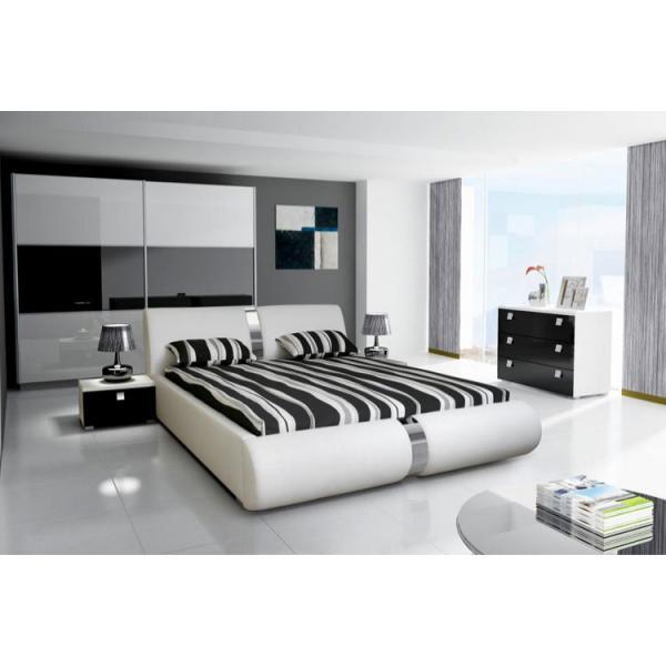 lit coffre sommier relevable blanc vitaro 140 cm 140x190x100