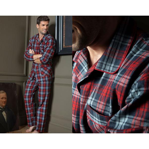 pyjama homme a carreaux rouge