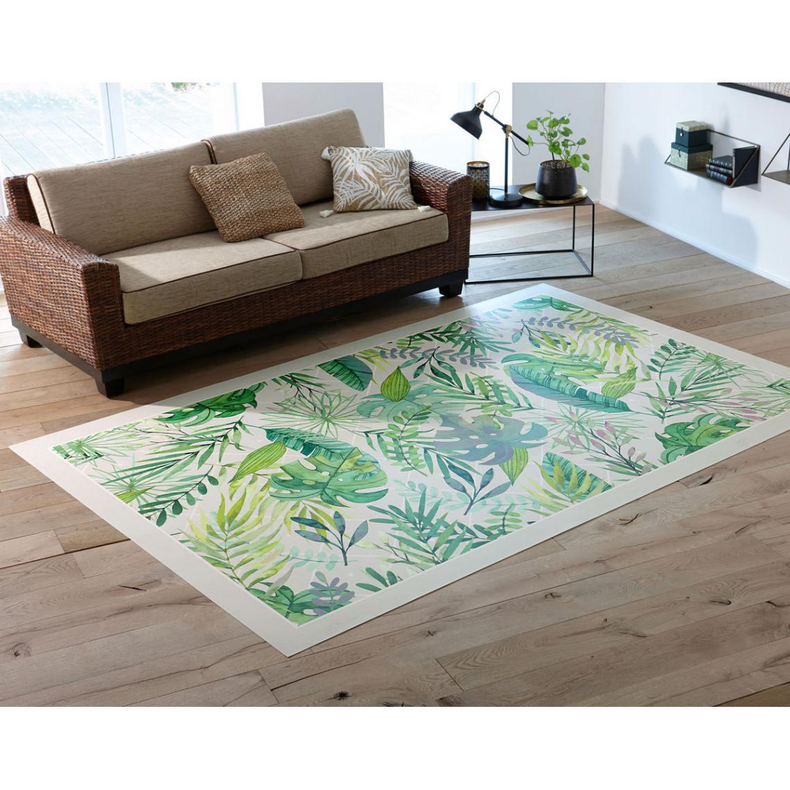 tapis vinyle exotic vert 60x100 ou 65x140
