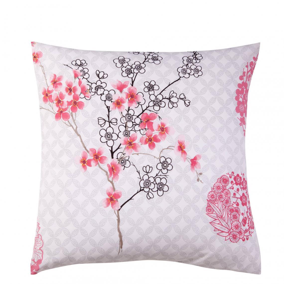 Parure De Lit Polycoton Fleur Du Japon Multicolore 3 Suisses