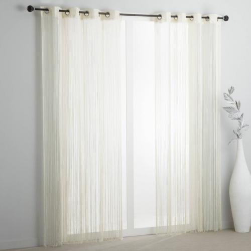 3s x collection nos imprimes rideau fils a oeillets blanc