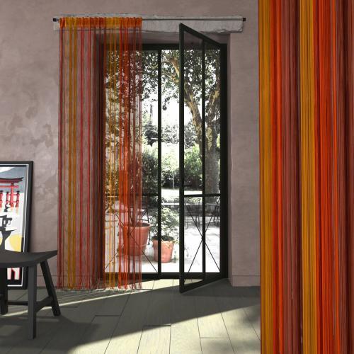 3s x collection nos imprimes rideau fils passe tringle orange