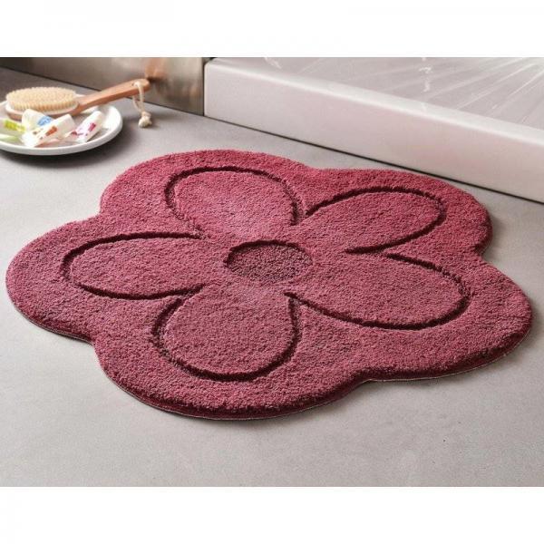 tapis de bain forme fleur 1800gm violet