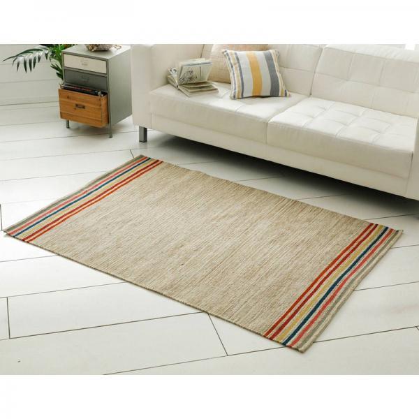 tapis chine en laine beige