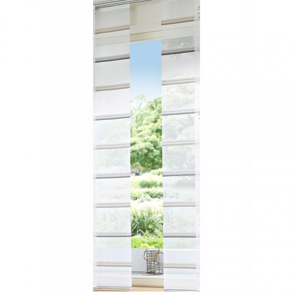 panneau japonais voile transparent raye
