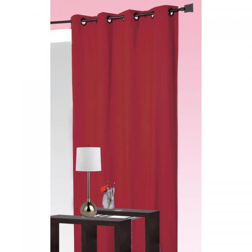 homemaison rideau occultant et isolant thermique a oeillets home maison rouge