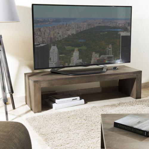 macabane meuble tv rectangulaire gris melis