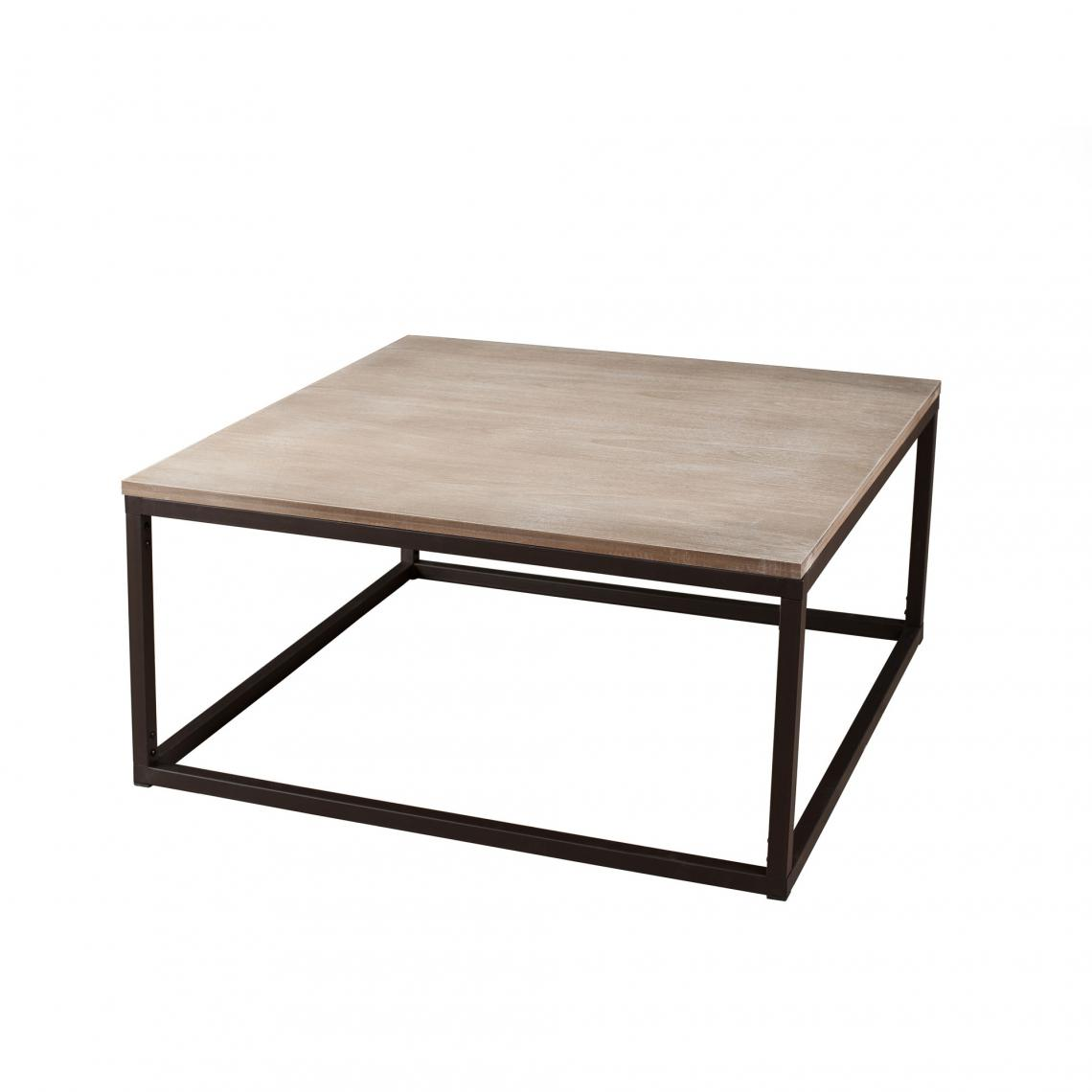 table basse carree 90 x 90 cm style