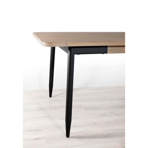 table a manger rectangulaire 200 x 100 cm esprit atelier chene clair ceruse