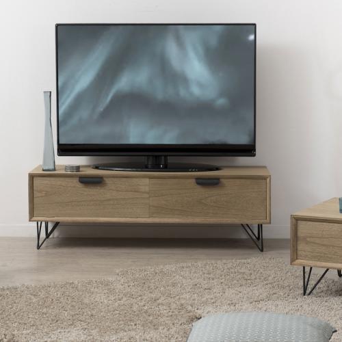 meuble tv 1 porte coulissante 2 niches