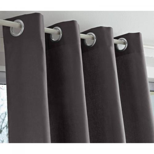3s x tertio nos unis rideaux oeillets bachette coton tertio gris