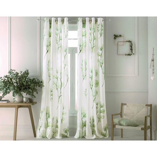 rideau œillets vegetal vert
