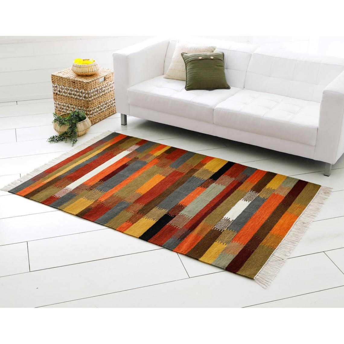 tapis jacquard bien epais multicolore