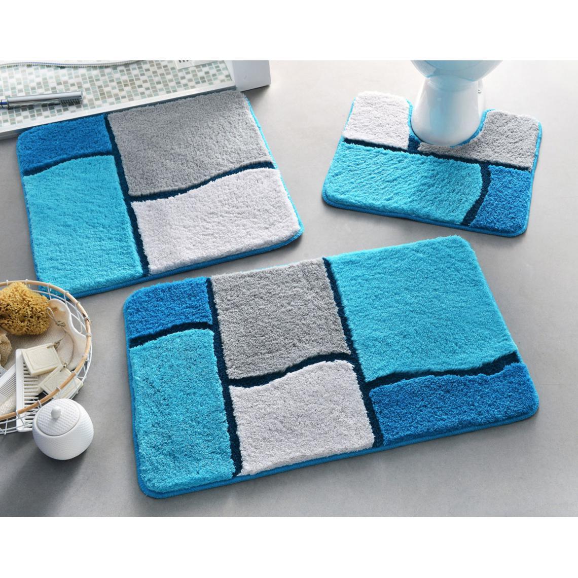 tapis wc glasgow bleu