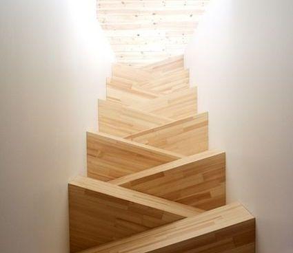 Scale per interni dal design suggestivo - Scale triangolari