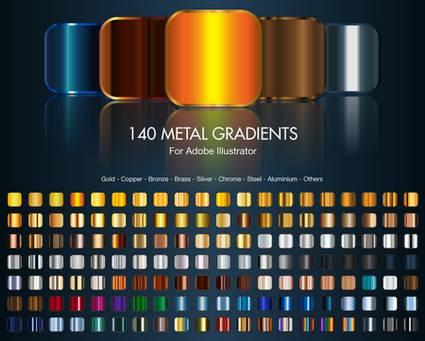 Gradienti metallici per Adobe Illustrator