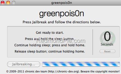 Jailbreak iOS 4.2.1 per iPhone 4,3GS, iPod Touch 2G,3G,4G e iPad con greenpois0n [GUIDA WIN E MAC]