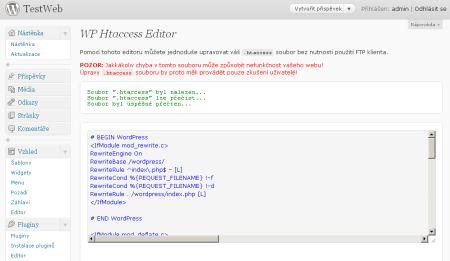 Modificare il file .htaccess direttamente dalla Dashboard di WordPress