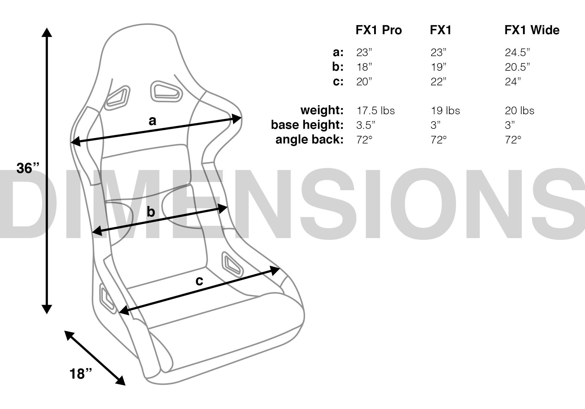 Corbeau Seat Fx1 Pro