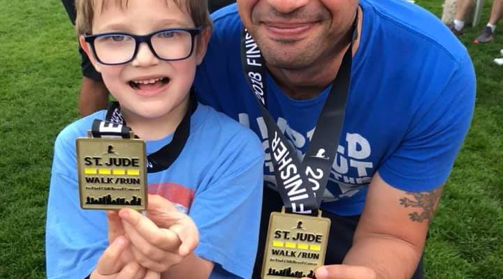 Jeremiah and Eric Skeens running for Heroes Latinos