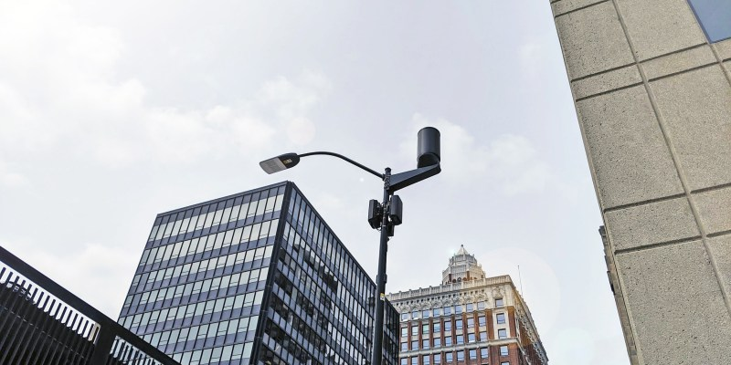 5G tower in city downtown