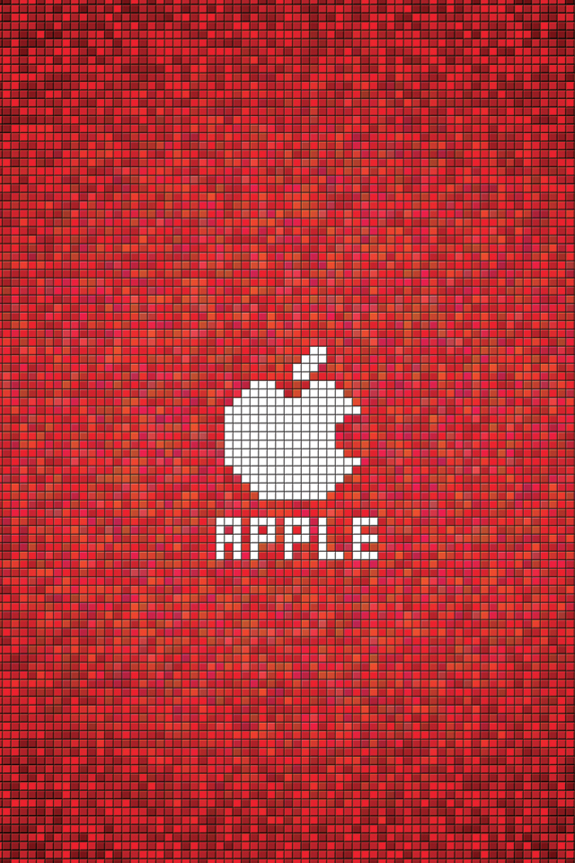 Apple Red Square 3Wallpapers Apple Red Square