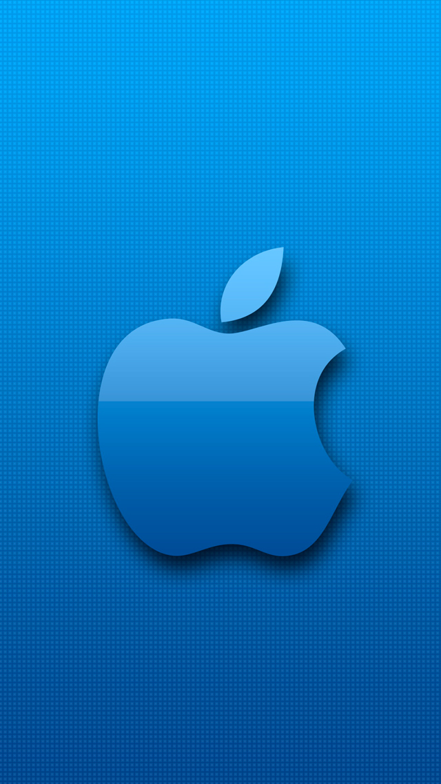 Blue Apple 3Wallpapers iPhone 5 Blue Apple