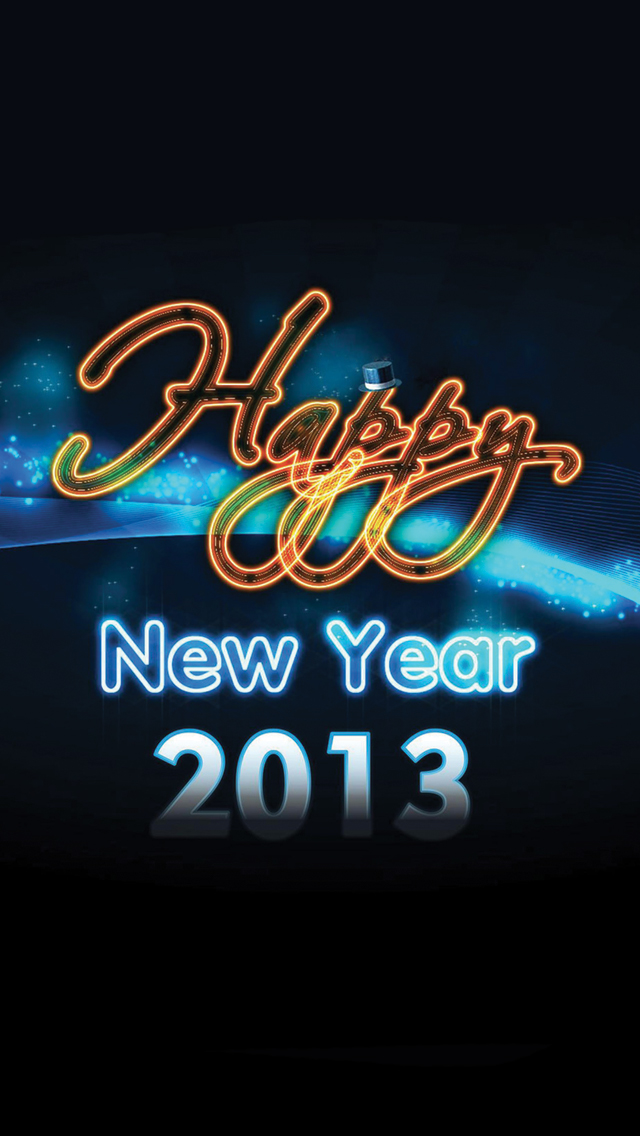 Happy New Year 2013 3Wallpapers iPhone 5 Happy New Year 2013
