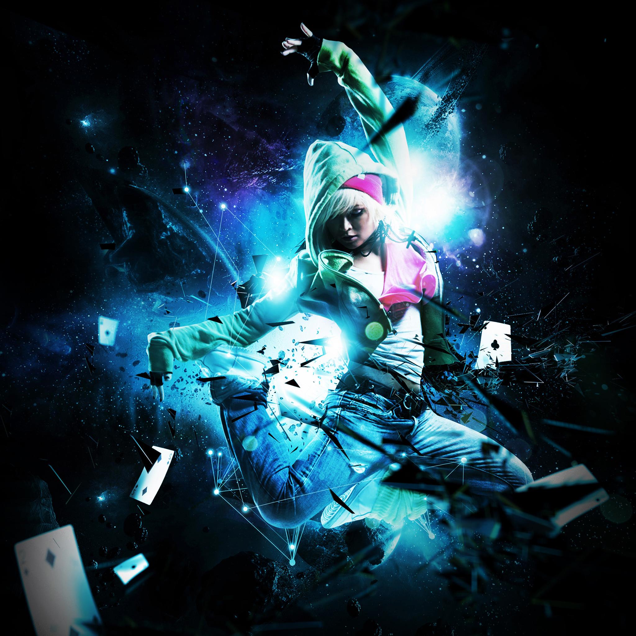 Hip Hop Dance Blue Light 3Wallpapers iPad Retina Hip Hop Dance Blue Light   iPad Retina