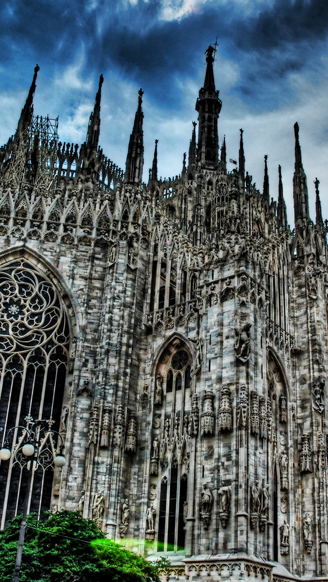 Milan Cathedral Gothic Church 3Wallpapers iPhone 5 Milan Cathedral Gothic Church
