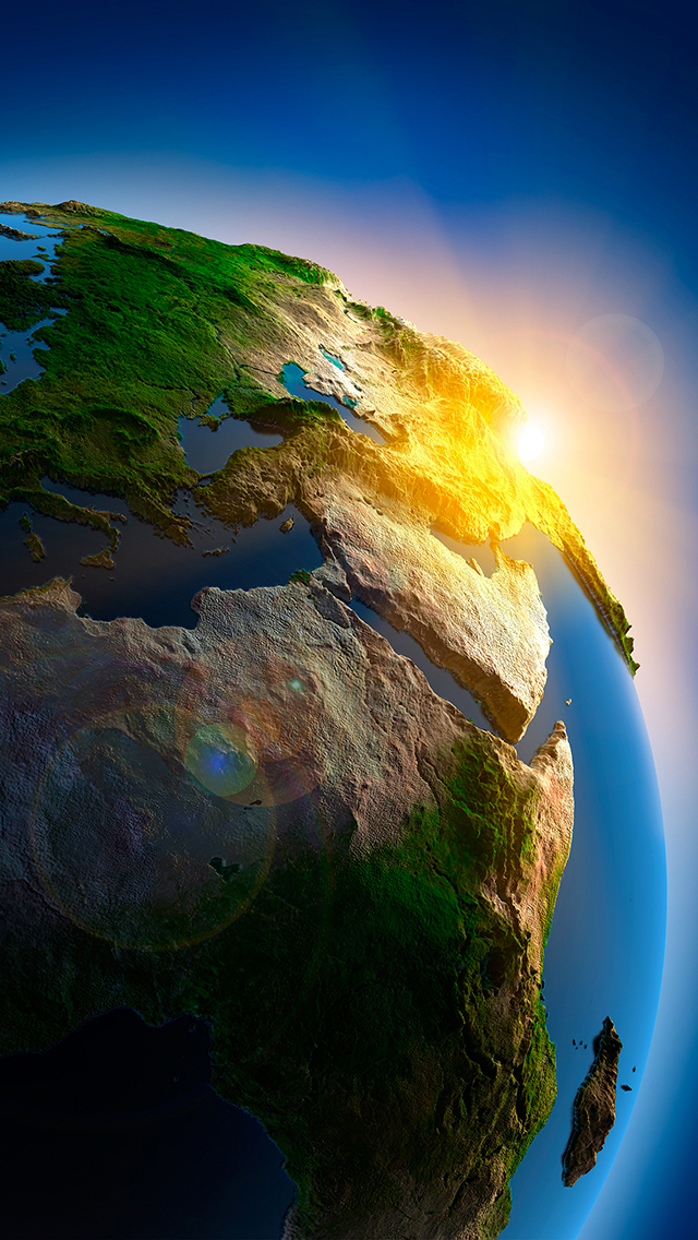 Planet Earth 3D 3Wallpapers iPhone 5 Planet Earth 3D