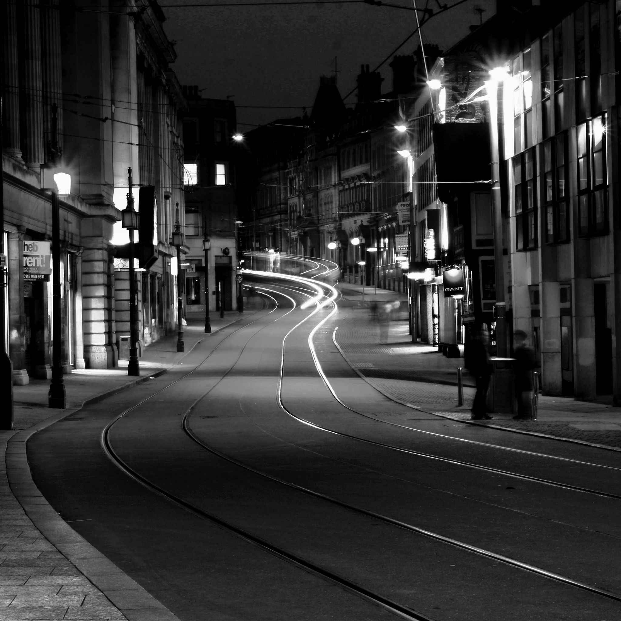Street black white 3Wallpapers iPad Retina Street Black White   iPad Retina