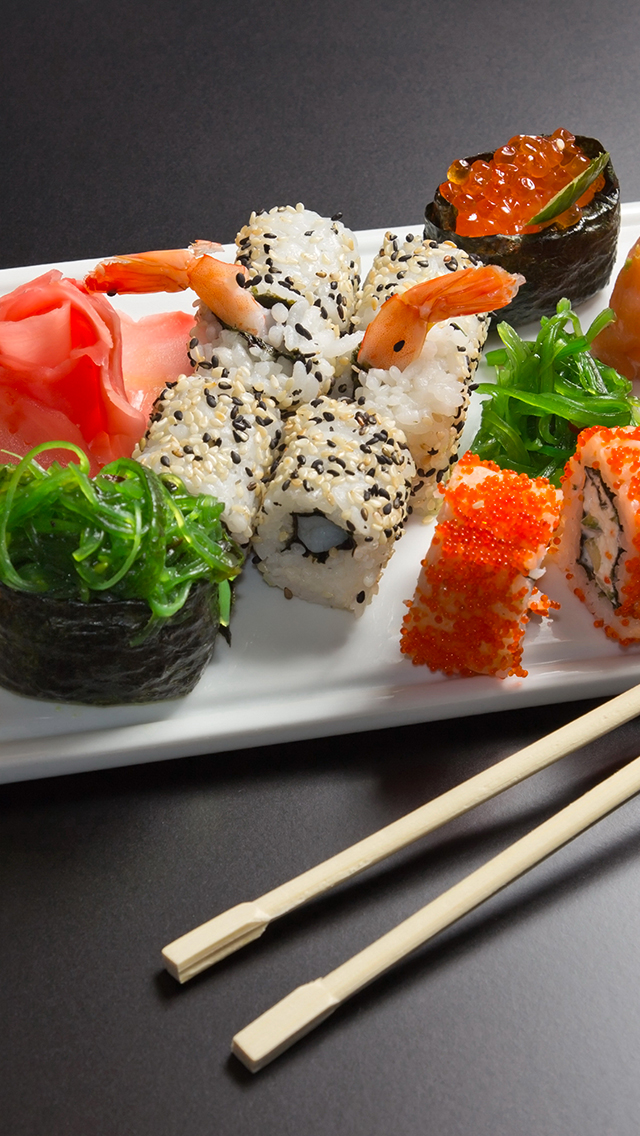 Sushi Plate 3Wallpapers iPhone Sushi Plate