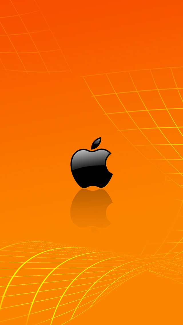 Orange Apple 3Wallpaper iPhone Orange Apple