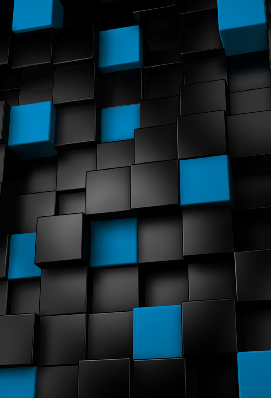 Abstract Blue and Black Cubes 3Wallpapers iPhone Parallax Abstract Blue and Black Cubes