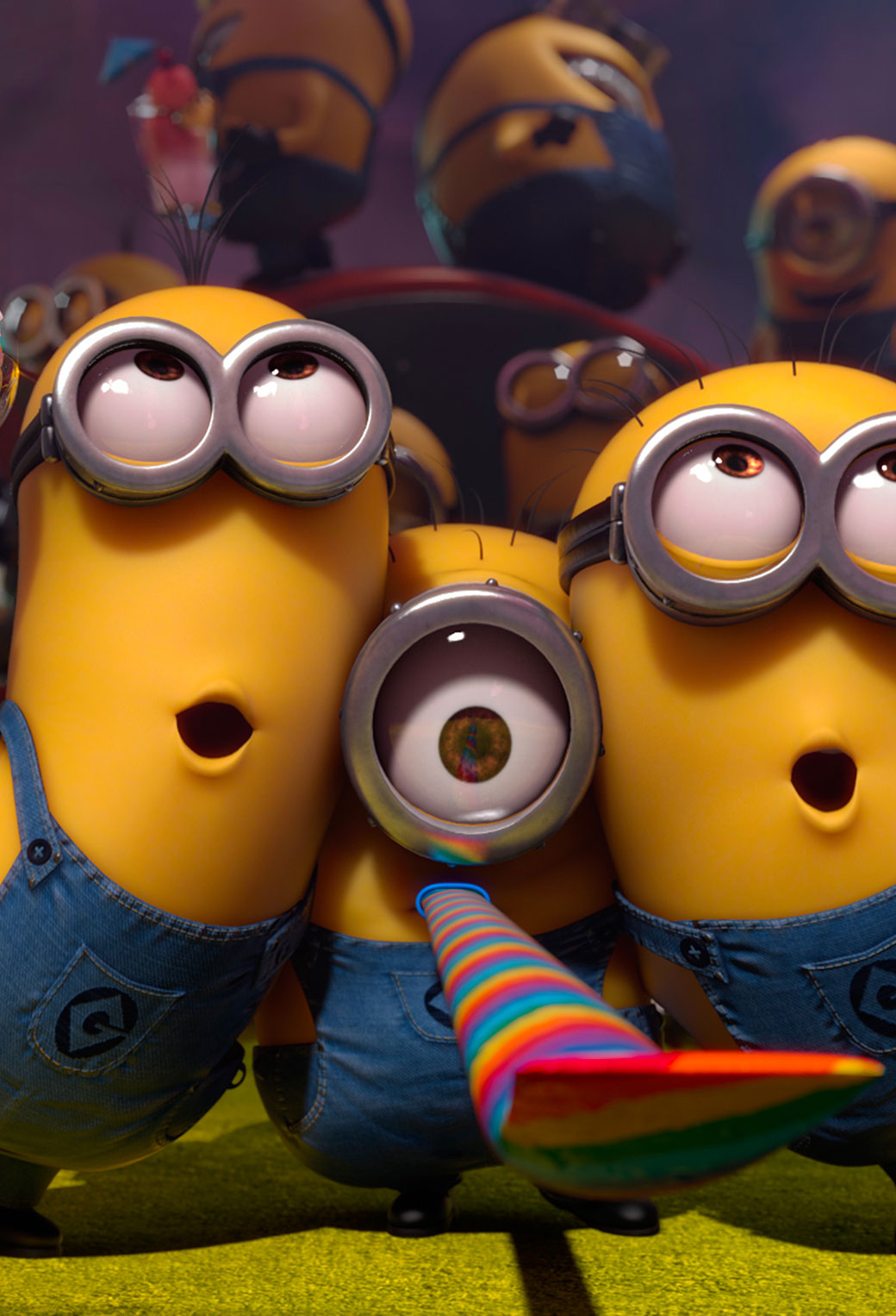 Minions Despicable Me 2 Wide 3Wallpapers iPhone Parallax Minions Despicable Me 2 Wide