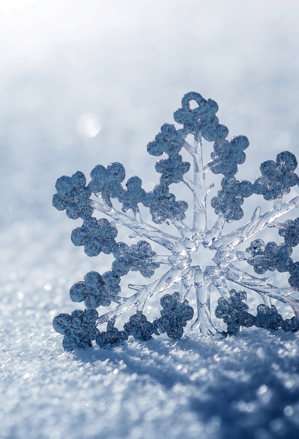 Ice Snowflake 3Wallpapers iPhone Parallax Ice Snowflake